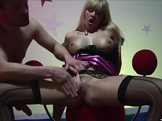 Blonde mature MILF Natalli DiAngelo pounded hard more their way mouth plus pussy