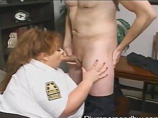 BBW police bureaucrat Zazie Jeannete gets brutally fucked