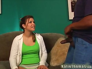 Barely legal Katie Thomas gets fucked by multiple guys