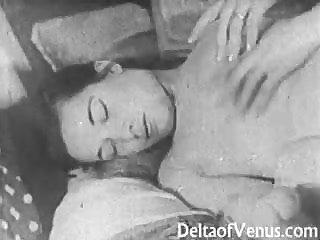 Authentic Vintage Porn 1950s - Shaved Pussy, Voyeur Fuck