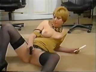 Masturbation Show in German Office