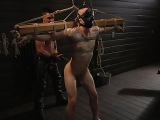 Rough gay porn in full dominance for a pair of two