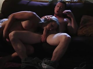 Beautiful Tgirl Kayleigh Coxx gets her juicy asshole fucked hard in the couch