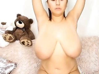 busty babe with big tits lactacting