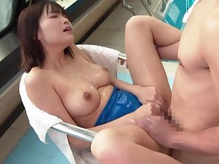 A real delight to fuck the busty Asian mom in her hairy cunt