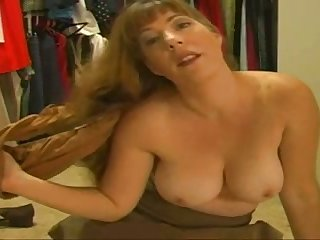 Kinky housewife is playing with her pussy and panties on a web cam