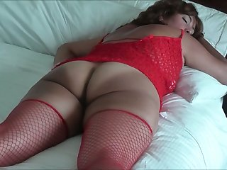This Asian harlot is immensely fuckable and she likes to wear fishnet stockings