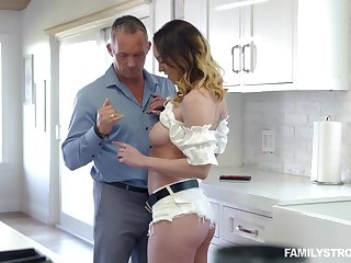 Busty alluring MILF with gorgeous booty Astrid Star enjoys topping fat prick