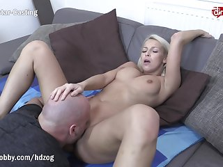 MyDirtyHobby - Shy blonde fitness babe swallows at her first casting
