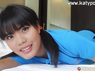 asian babe Nun Xang hot POV sex