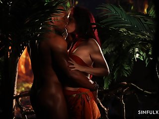 Wild Czech hottie Antonia Sainz is properly fucked by black stud in the jungles