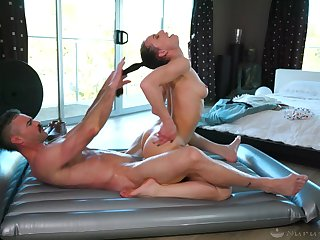 Sexy masseuse loves hair pulling during sex and she's got a nice booty