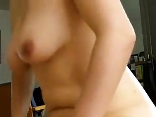 Woman riding and having an orgasm
