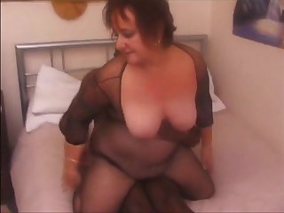 Big grandma fucked by black bull while hubby recording get facial