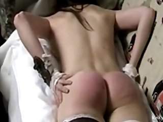 Russian Irina 18 gets her ass flogged red