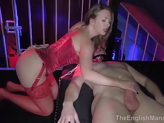 Dominatrix T ravages sub in his cage