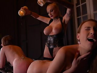Kayla Green & Liona Levi & Lulu Love in Smoking Hot: Lesbian Teens Ass Fucked By Busty Dominatrix - KINK