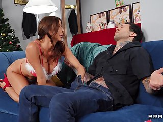 Busty MILF Alexis Fawx craves for a friend's delicious shaft