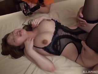 Closeup video of passionate MMF threesome with Rion Nishikawa