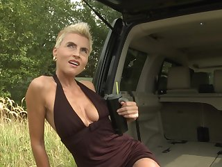 Blondie Philana receives the dicking of her life about the back of a van