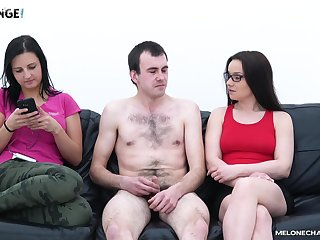 Wendy Moon agrees to drag inflate a friend's fat dick on eradicate affect sofa