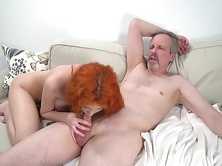 Horny old guy has unforgettable sex fro wife's cute stepdaughter