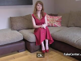 Ginger-Haired ass-fuck banged on audition