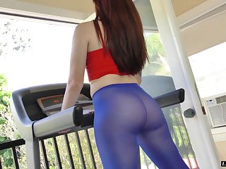 Seductive nice ass Ariel working out then smashed hardcore