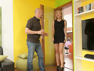 DADDY4K. Smoking-very hot blond cheats on boyfriend with...