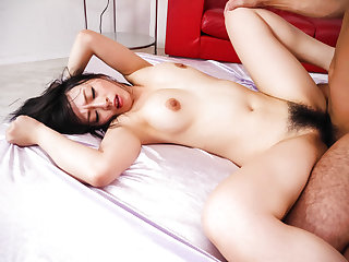 Busty Nozomi Hazuki enjoys two cocks in her holes - More at javhd.net