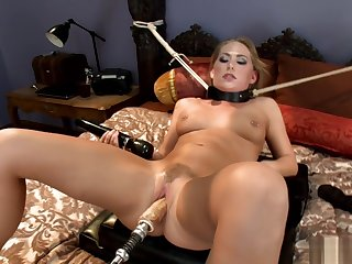 Pierced nipples blonde machine banged