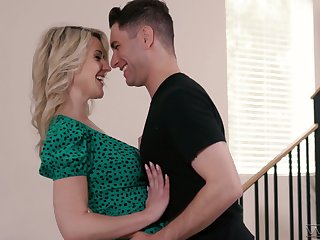 Mouth watering busty milf Kit Mercer has an affair with handsome stepson
