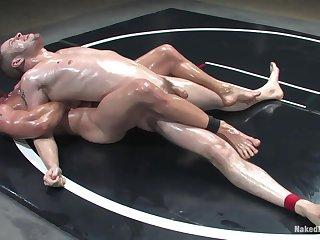 Bareback gay porn in rough battle fetish